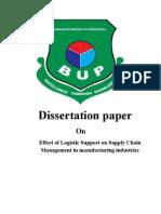 Dissertation Paper on Logistics