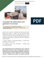 Cupcake de Beterraba Com Ganache Funcional -