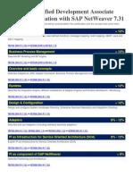 SAP Certified Development Associate - Process Integration With SAP NetWeaver 7.31