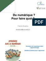 Apprendre avec le numérique - Franck AMADIEU