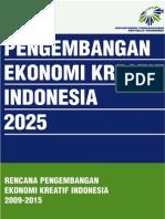 Buku 1 Rencana Pengembangan Ekonomi Kreatif Indonesia 2009