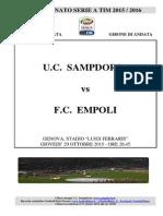 2015-16 Sampdoria Empoli