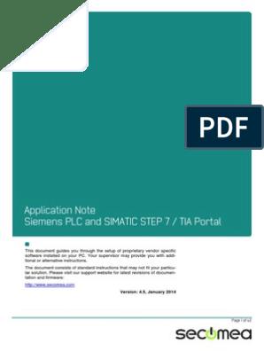 Siemens Plc and Simatic Step 7 - Tia Portal   V Mware