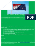 new zealand student visa information