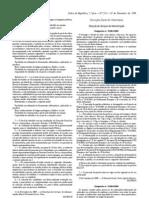 Generos alimenticios - Legislacao Portuguesa - 2009/11 - Desp nº 25483 - QUALI.PT