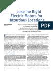 Hazardous Area Electric Motor Paper