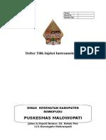 Sampul Daftar Tilik