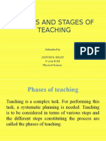 Phases and Stages of Teaching.