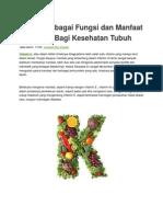 Kenali Berbagai Fungsi Dan Manfaat Vitamin K Bagi Kesehatan Tubuh