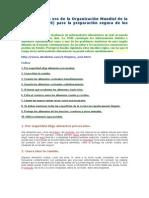 Diez Reglas de Oro de La Organización Mundial de La Salud