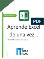Aprende como utilizar Excel de Una Vez