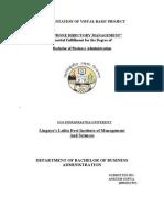 Documentation (vb project)
