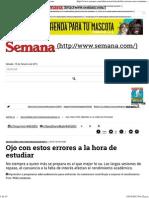 Los Errores Más Comunes y Consejos Al Momento de Estudiar - Semana.com