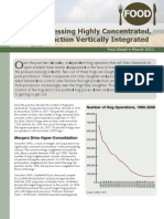 Pork Processing Highly Concentrated, Hog Production Vertically Integrated
