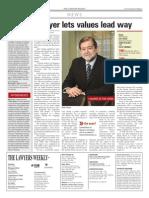 Mark Freiman, CJC President, profiled in Lawyer's Weekly