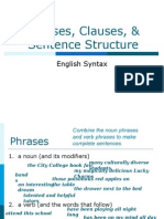 2405 Unit 2-Phrases, Clauses, Sentence Structure-3