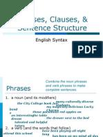 2405 Unit 2-Phrases, Clauses, Sentence Structure-3