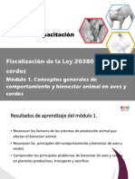 Curso Fiscalizadores Ley 20380 Aves y Cerdos. Mod 1