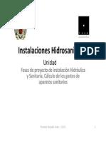 FASES DE PROYECTO DE INSTALACIÓN HIDRÁULICA Y SANITARIA.
