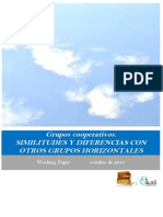 Grupos cooperativos. SIMILITUDES Y DIFERENCIAS CON OTROS GRUPOS HORIZONTALES