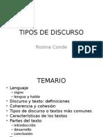 Tipos de Discurso (1)