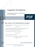 Magnetic Excitations