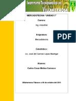 Unidad 3 ( Mercadoecnia) Carlos Cesar