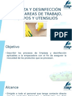 5. Limpieza y Desinfeccion de Las Areas de Trabajo, Equipos y Utensilios
