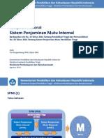 Kebijakan Nasional SPMI - Agustus 2014