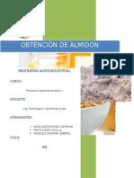 Obtencion de Almidon e Hidrólisis Ácida Del AlmidónKATTY