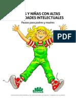 Pautas Para Padres y Madres Niños y Niñas Con Altas Capacidades Intelectuales