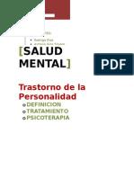 Trastorno de La Personalidad,Salud Mental