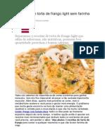 3 Receitas de Torta de Frango Light Sem Farinha de Trigo