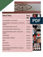 Tabela de Preços