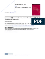 Internal Self-Determination in International Law a Critical Third-World Perspective