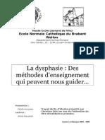 La dysphasie _ des méthodes d'enseignement qui peuvent nous guider… (+ annexes). (TFE) (ressource 2475)