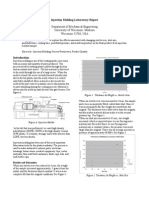 Injection Molding Laboratory Report