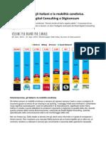 Vieniviaconme, Gli Italiani e La Mobilità Condivisa. Indagine Fleed Digital Consulting e Digiconsum