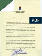 Carta de Apoyo al Festival Interpueblos del Ayuntamiento de Leganes