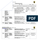 Planificación Diaria Agosto, Reforzamiento, Octavo Básico 2014, Paola Armijo