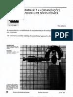 O Trabalho e as Organizações Na Perspcetiva Sócio-técnica_Jan-1994
