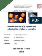 Figuras y Formas Que Adopatn Los Cristales - Jerson Gonzales