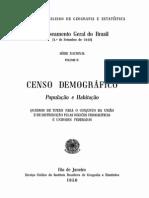 Censo Demografico 1940 VII_Brasil