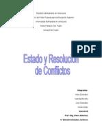Estado y Resolucion de Conflictos