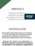 PRÁCTICA 3 Psicología de la Memoria Uned