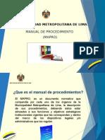 Capacitacion Manual de Procedimientos