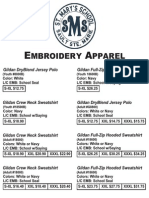 St Mary's Apparel Order Form