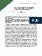 Nouveau Parallèle Entre Saint Paul (Gal 3-16) Et Philon d'Alexandrie (Quaestiones in Genesim)