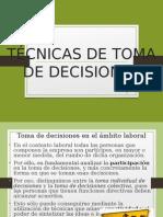 técnica de toma de decisiones