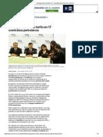 Renegociación de Tarifa en 17 Contratos Petroleros _ El Comercio